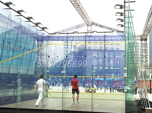 全玻璃式壁球馆